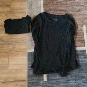 2 Small Sonoma Black Long Sleeves
